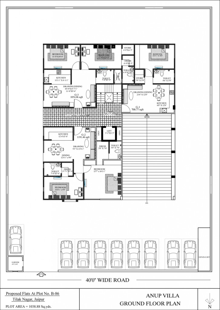 Anoop villa - Floor Plan