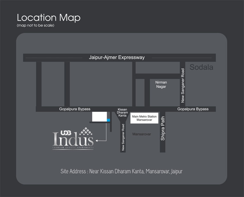 UDB Indus - Location Map