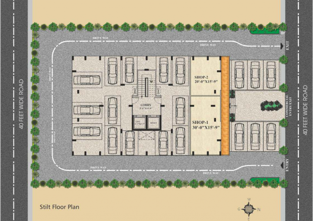 UDB Karol villa - Floor Plan