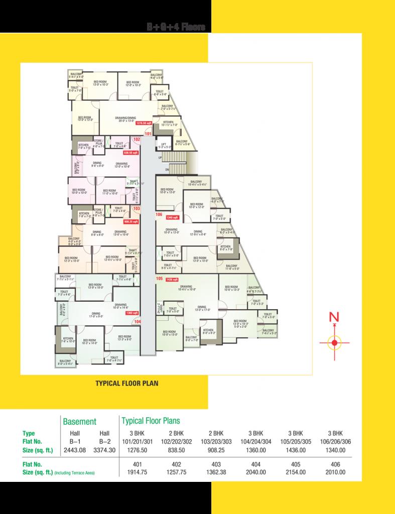 UDB Roop Vilas - Floor Plan