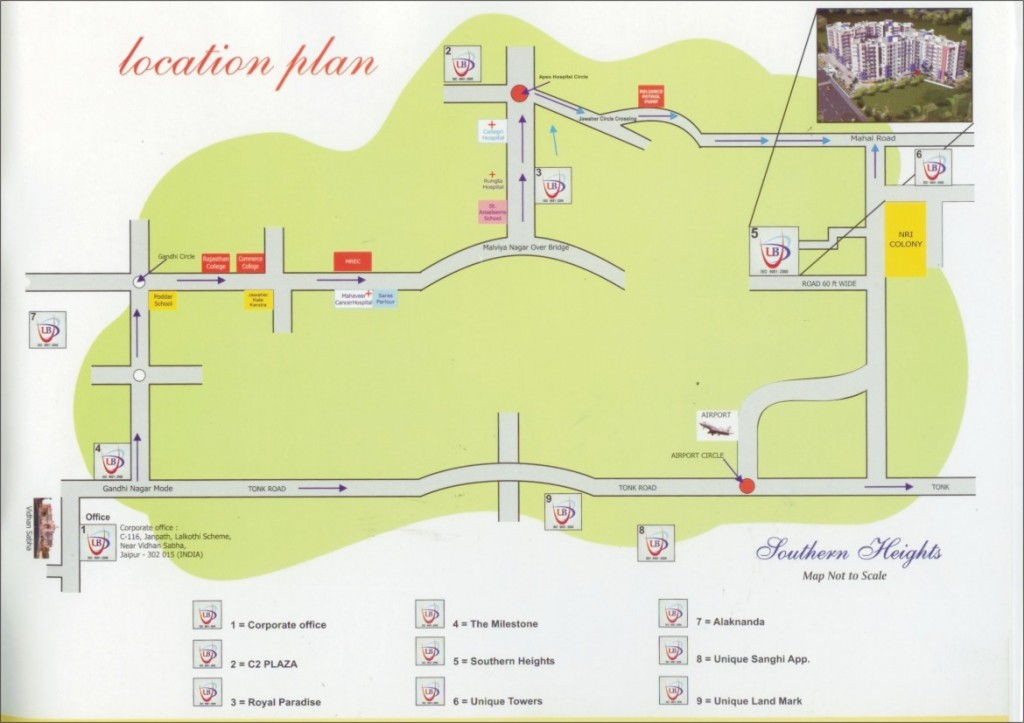 Southern Heights - Location Map