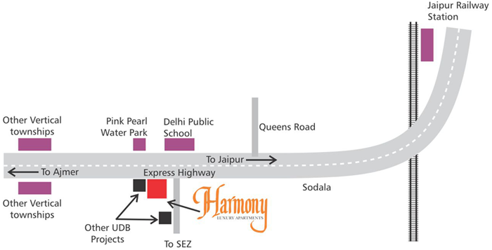 Unique Harmony Apartments - Location Map