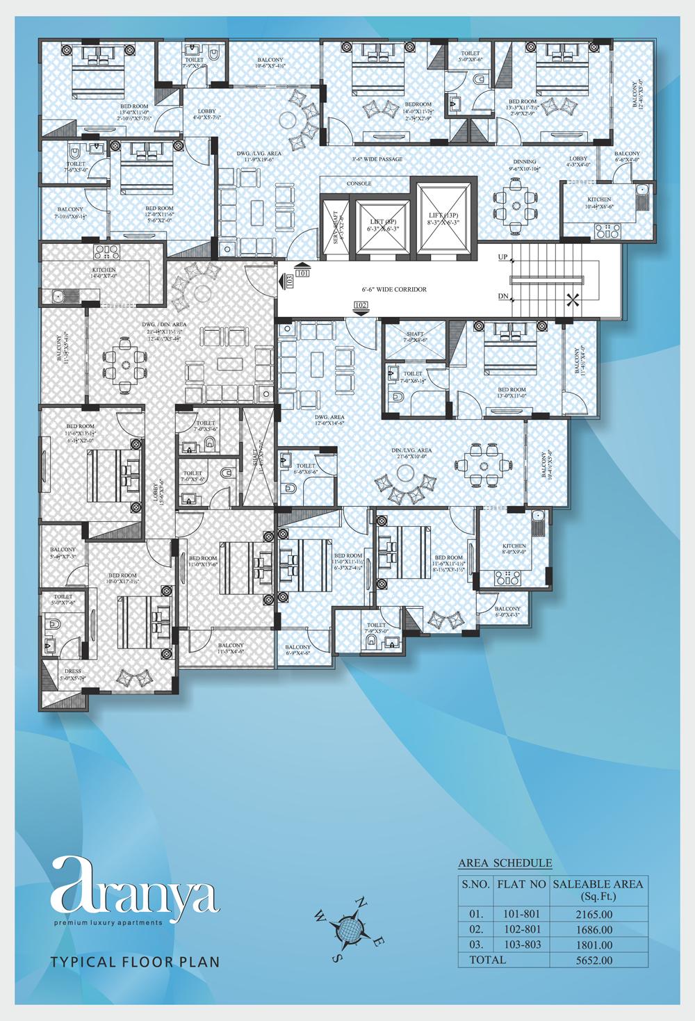 UDB Aranya - Floor Plan