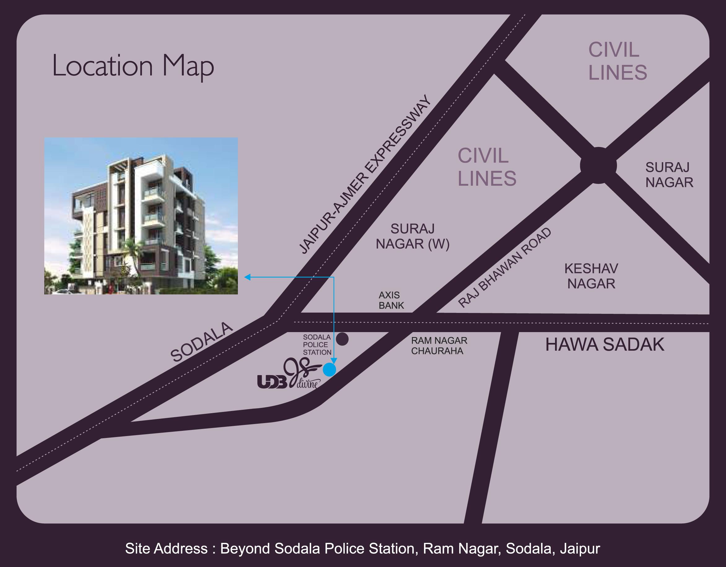 JS Divine - Location Map
