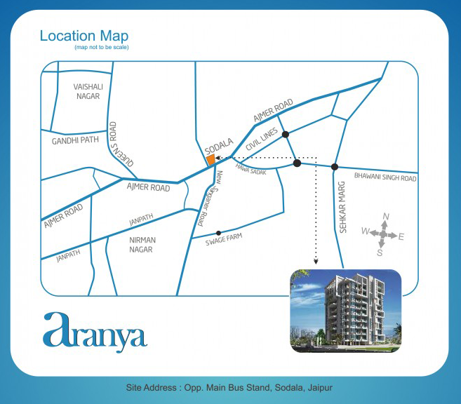 UDB Aranya - Location Map