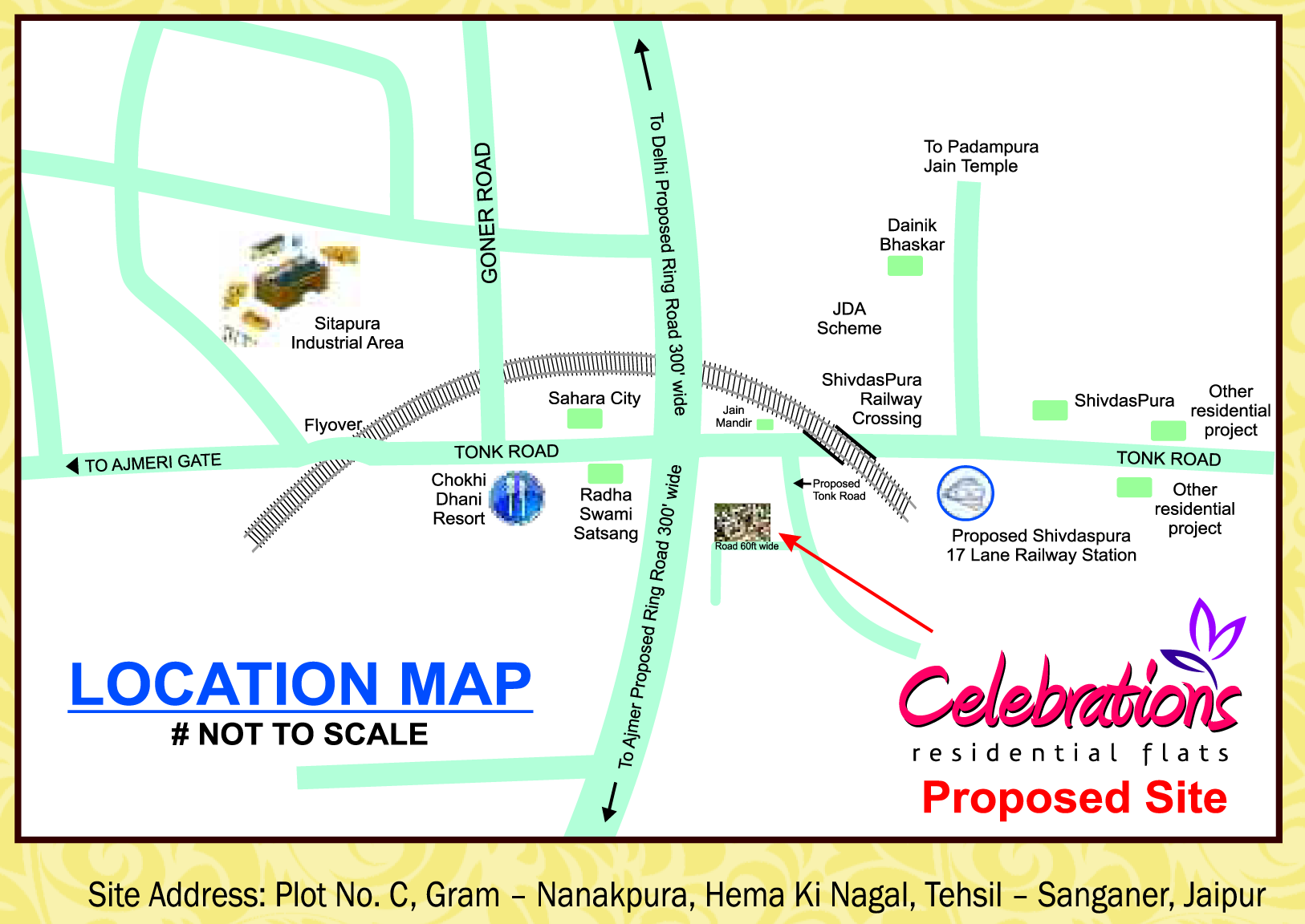UDB Celebrations - Location Map