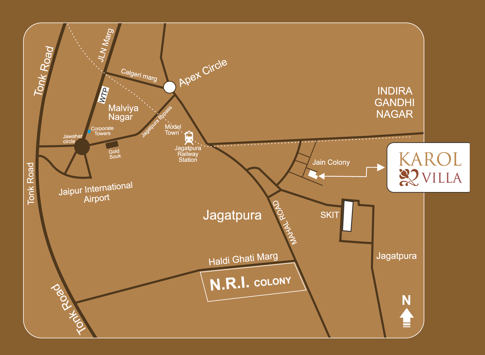 UDB Karol villa - Location Map