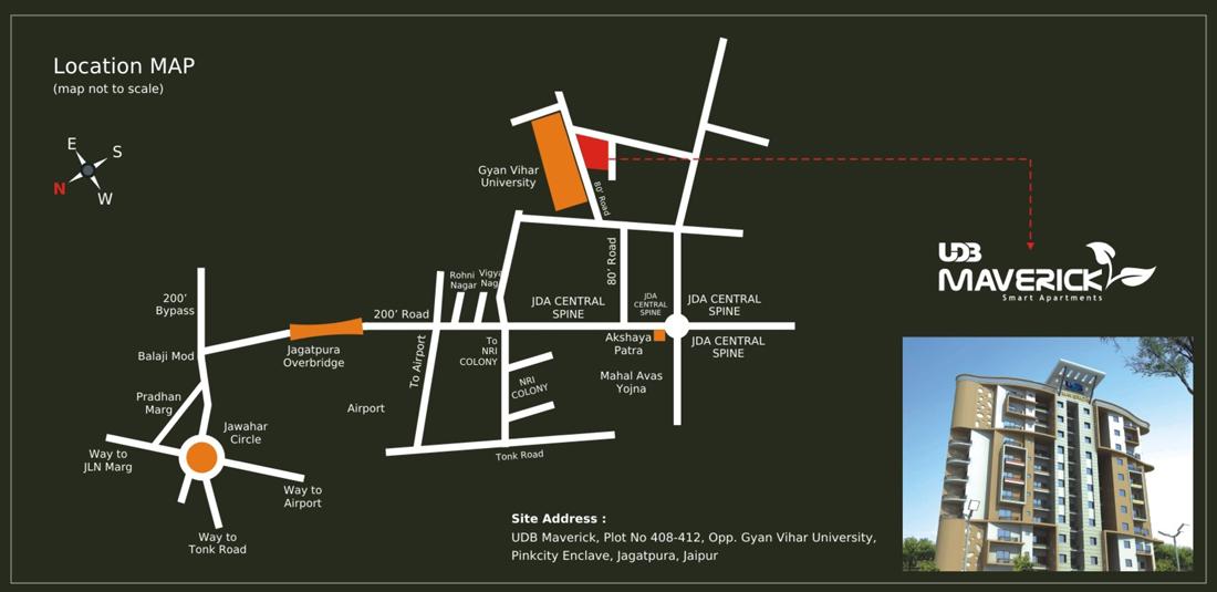 UDB Maverick - Location Map