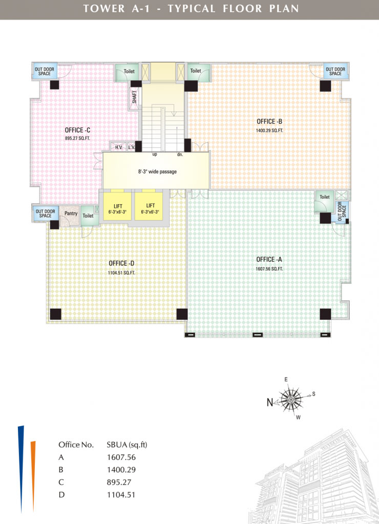 UDB Corporate Tower - Floor Plan