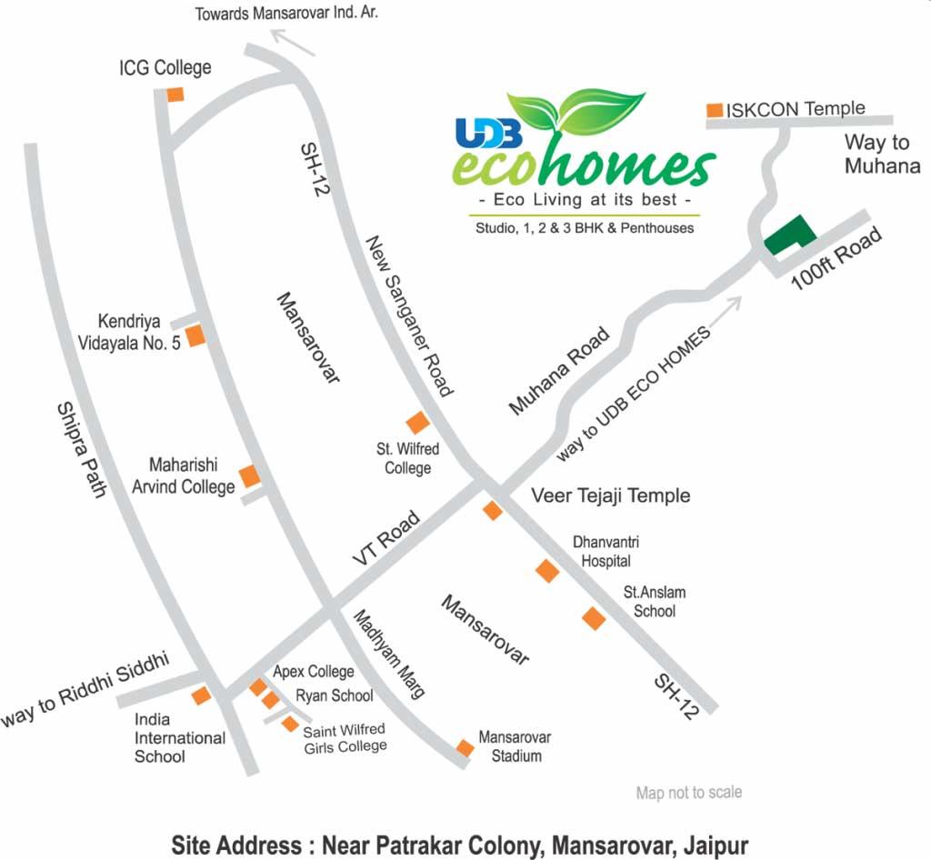 UDB Eco Homes - Location Map