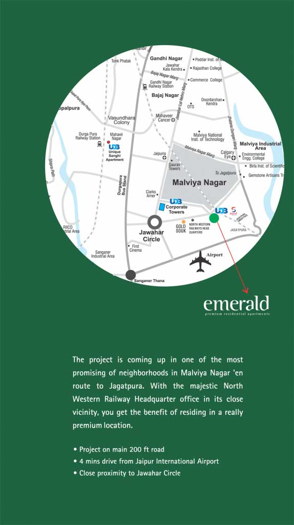 UDB Emerald - Location Map