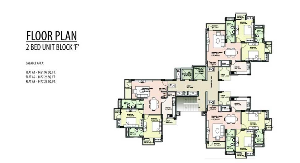 Unique Harmony Apartments - Floor Plan