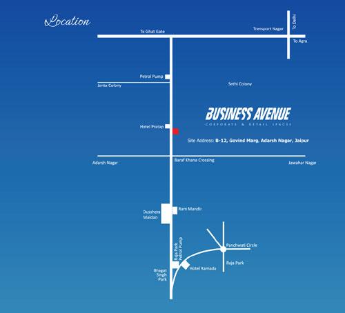 UDB Business Avenue - Location Map
