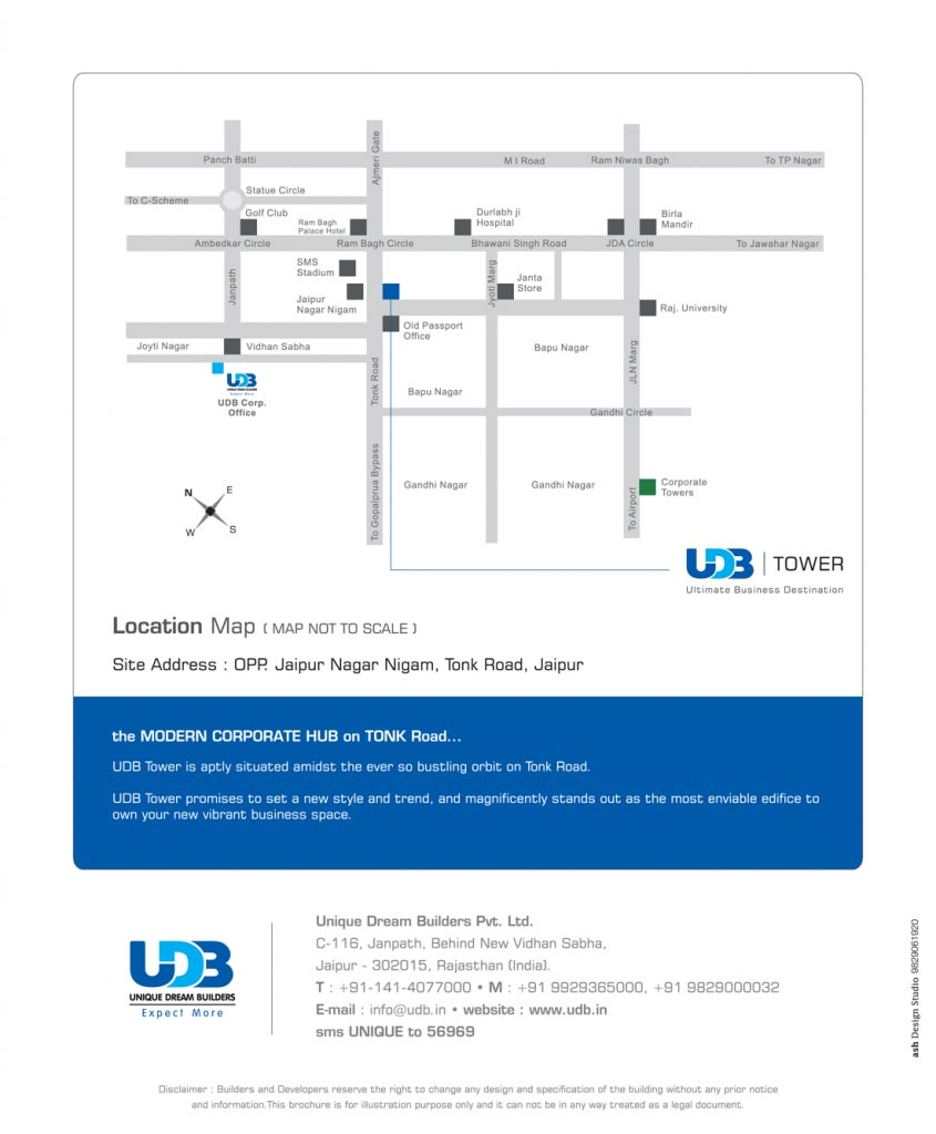 UDB Tower - Location Map
