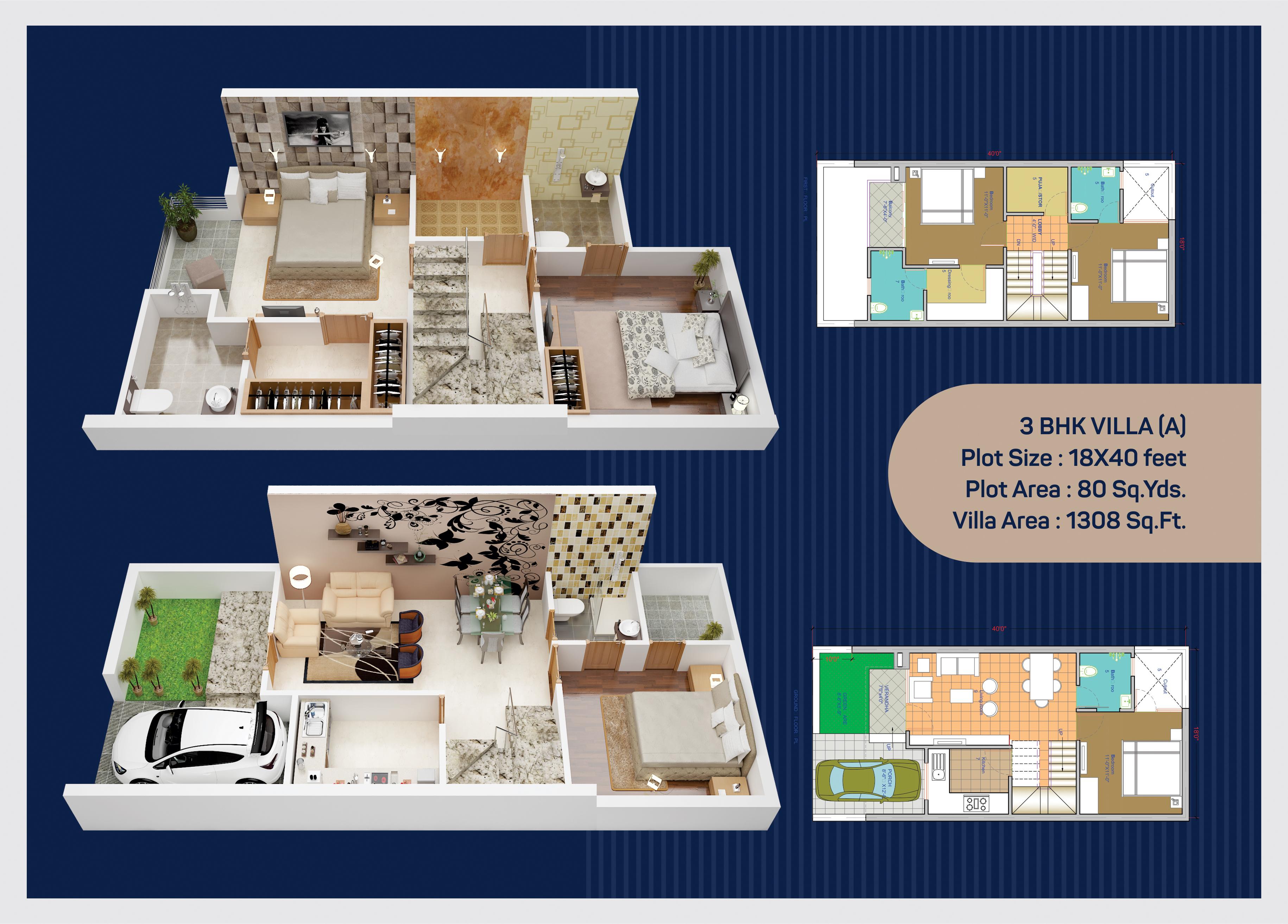 UDB Sirsi Villa - Floor Plan